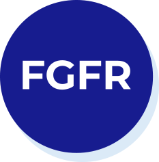 Icon of a blue circle with F G F R on it in white text